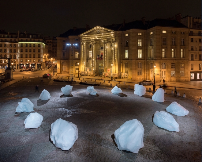 ?ice watch paris? Olafur Eliasson - Place du Pantheon