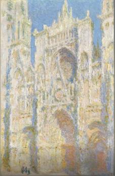Catedral Rouen, fachada oriental, a la luz del sol, 1894, Monet