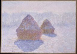 Haystacks (effect of Snow and Sun) 1891.Monet