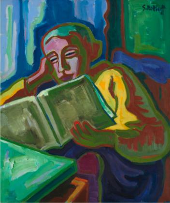 Karl.Schmidt-Rottluff.1950. Lesende